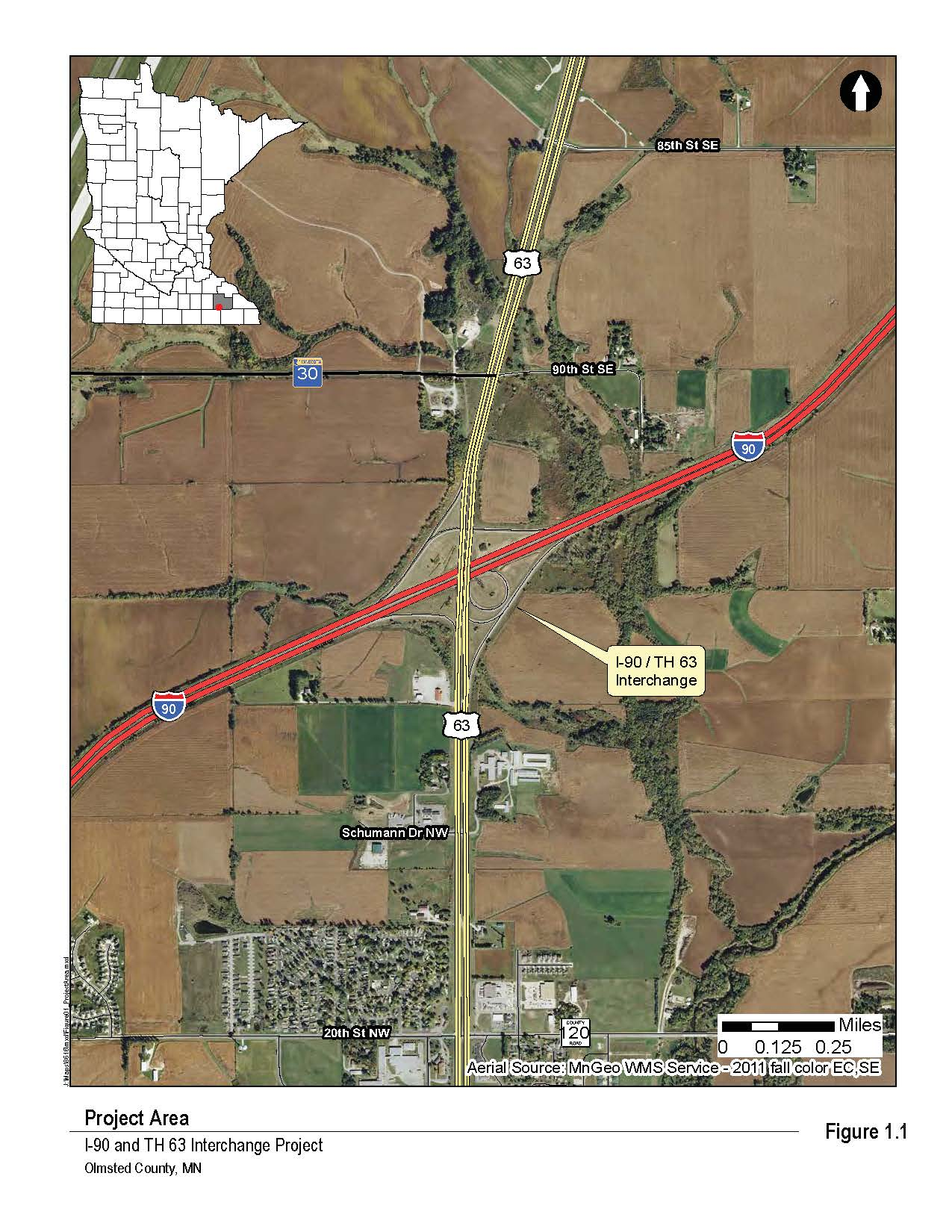 Hwy 63 And I 90 Interchange Improvements - Us-interstate-90-map