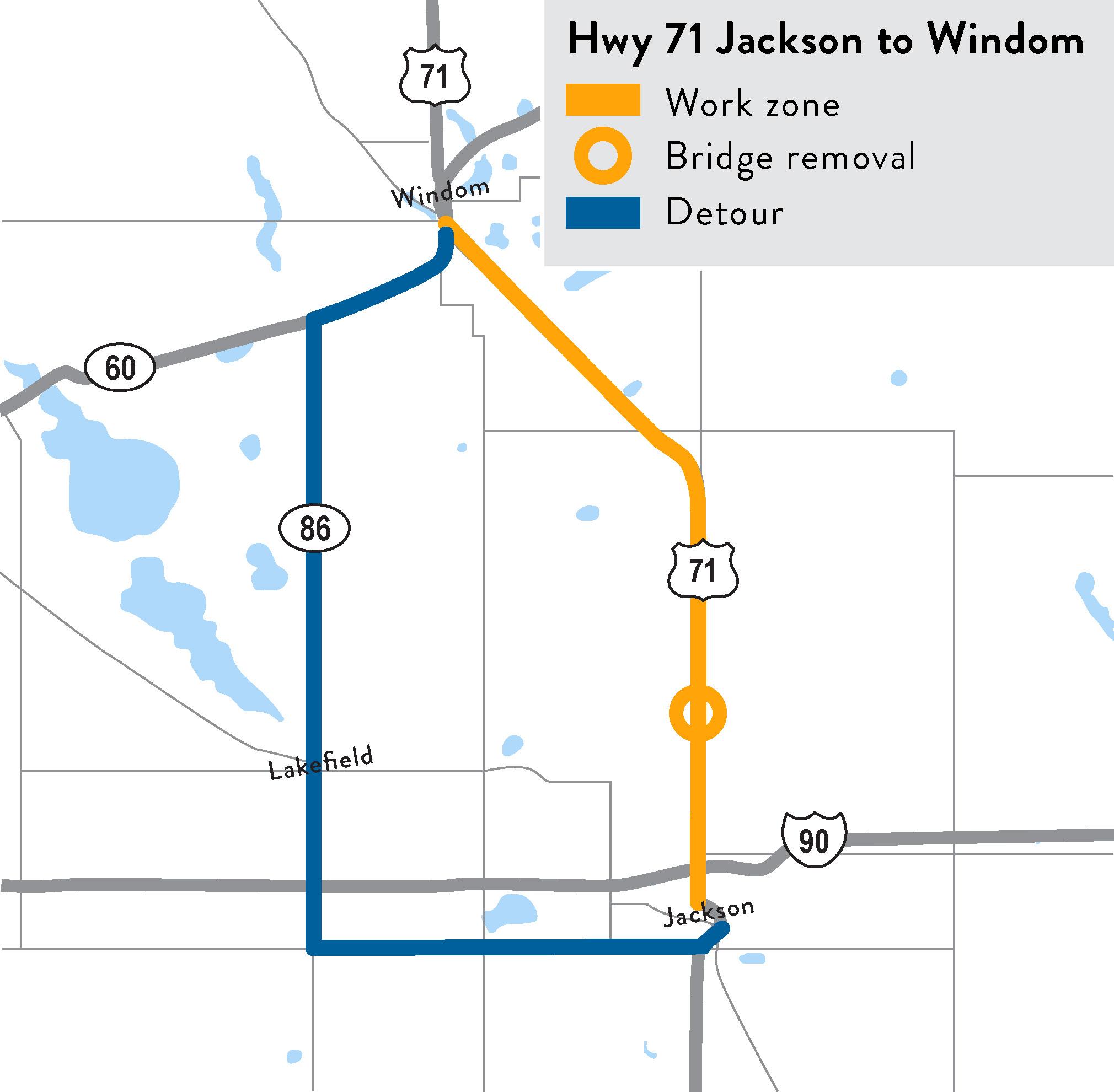 Highway 71 Jackson Windom Mndot - Us-highway-71-map
