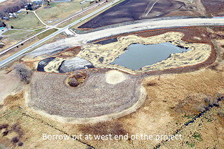 Borrow pit at west end of the project