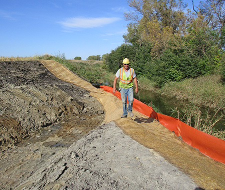Willmar Wye project - Hawk Creek diversion channel under Hwy 40