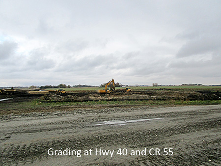 Grading at Highway 40 and County Road 55