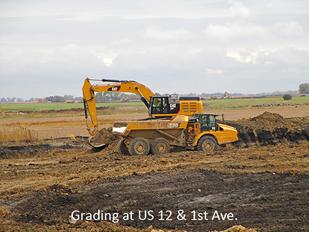 Grading at US 12 and 1st Avenue