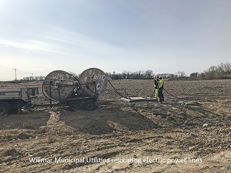 Willmar Municipal Utilities relocating electric power lines