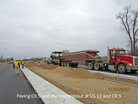 Paving County Road 5 and the roundabout at US 12 and County Road 5
