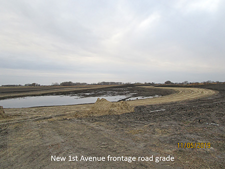 New First Avenue frontage road grade