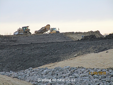 Grading on new US 12
