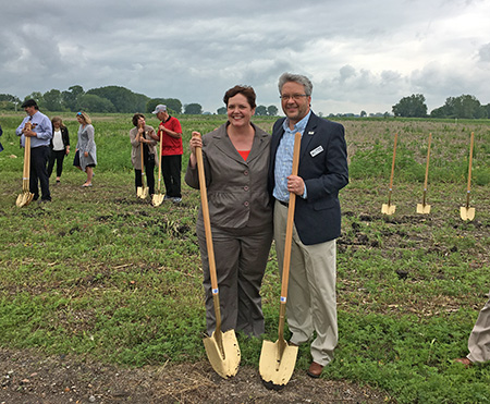 MnDOT Commissioner Margaret Anderson Kelliher and MnDOT District Engineer Jon Huseby