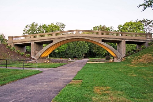 Full shot of Como Pedestrian Bridge after rehabilitation