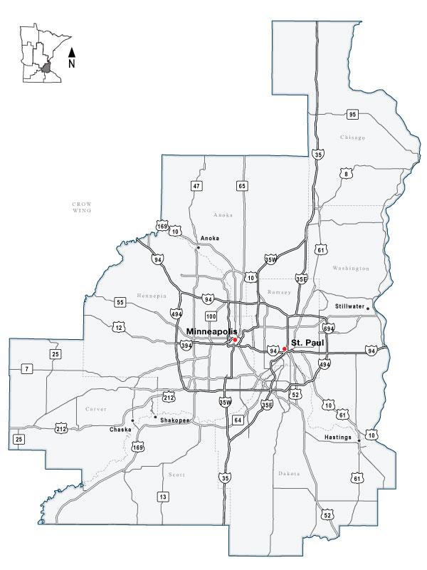 Mndot Construction Map Twin Cities Metro Area Regional Information Mndot Construction Map