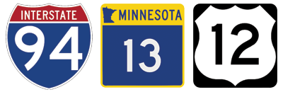I-94 highway sheild, Minnesota State highway shield and US hwy shield