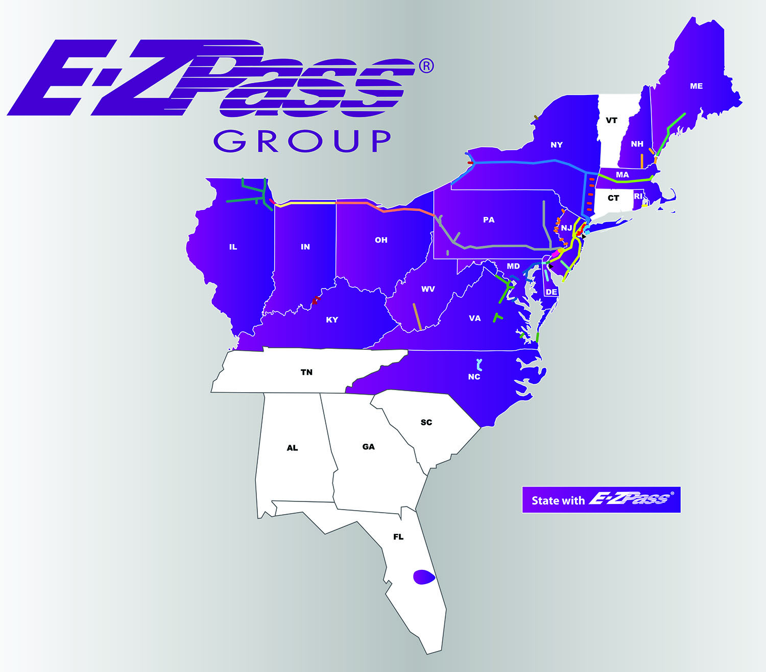 EZPass map