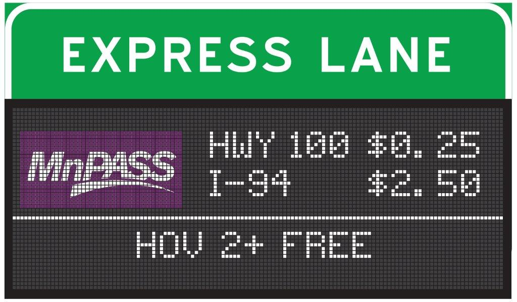 MnPASS Digital Signs