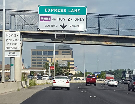 Carpool Lane Rules >> Driving In A Mnpass Lane Mnpass