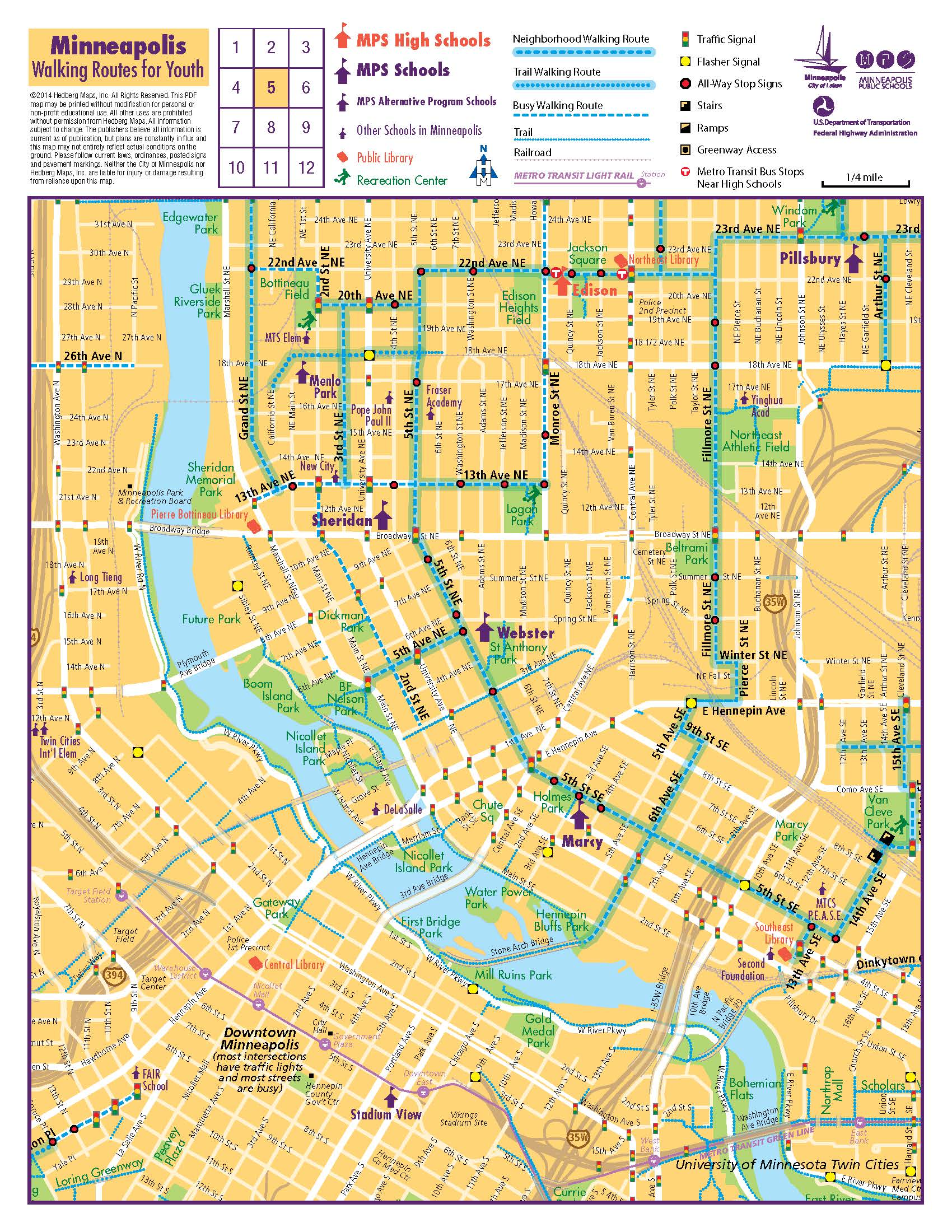 Map of Minneapolis Safe Routes to School