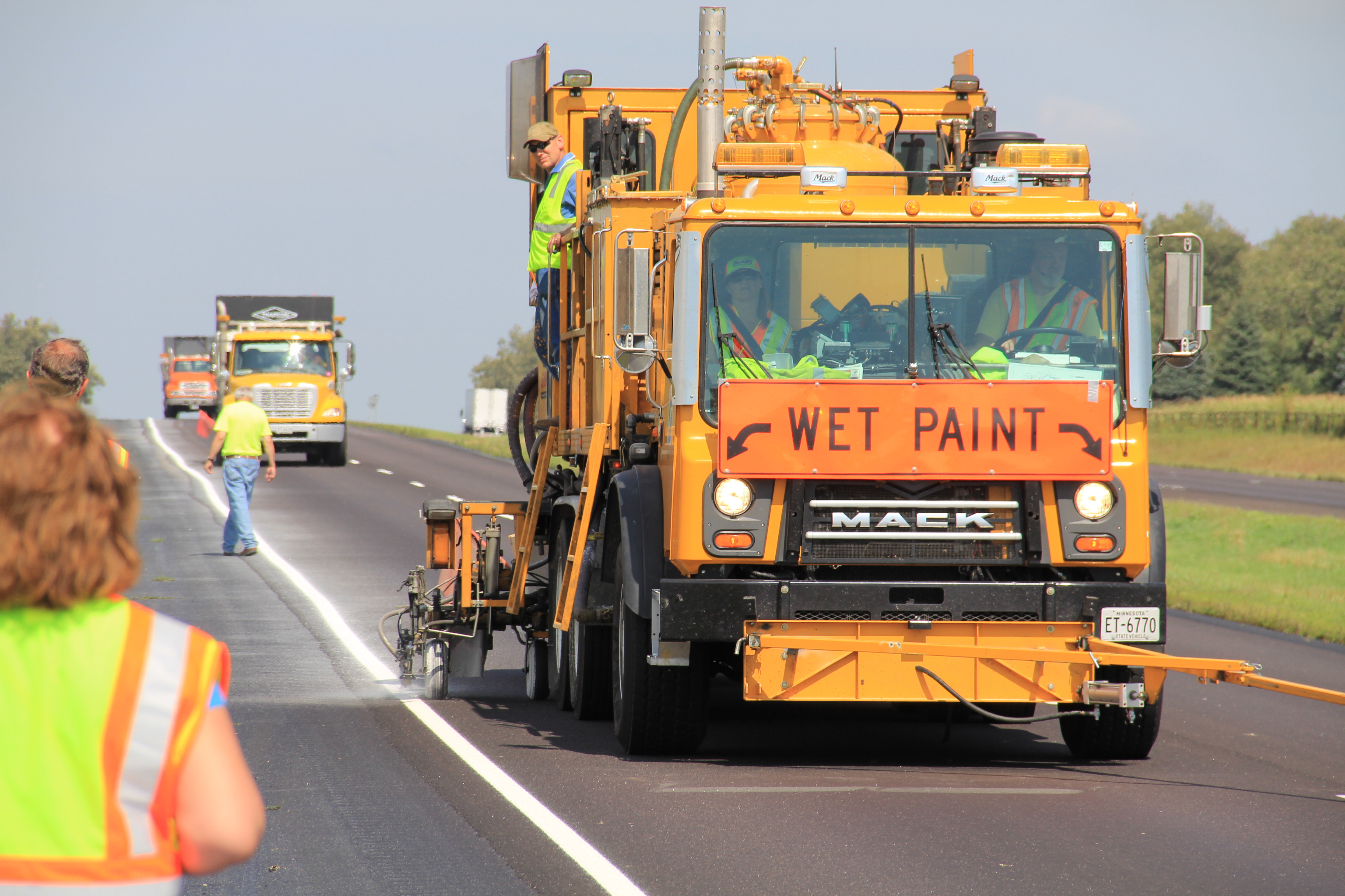Pavement marking is one area in which road managers can begin preparing for the needs of large CAV vehicle fleets.
