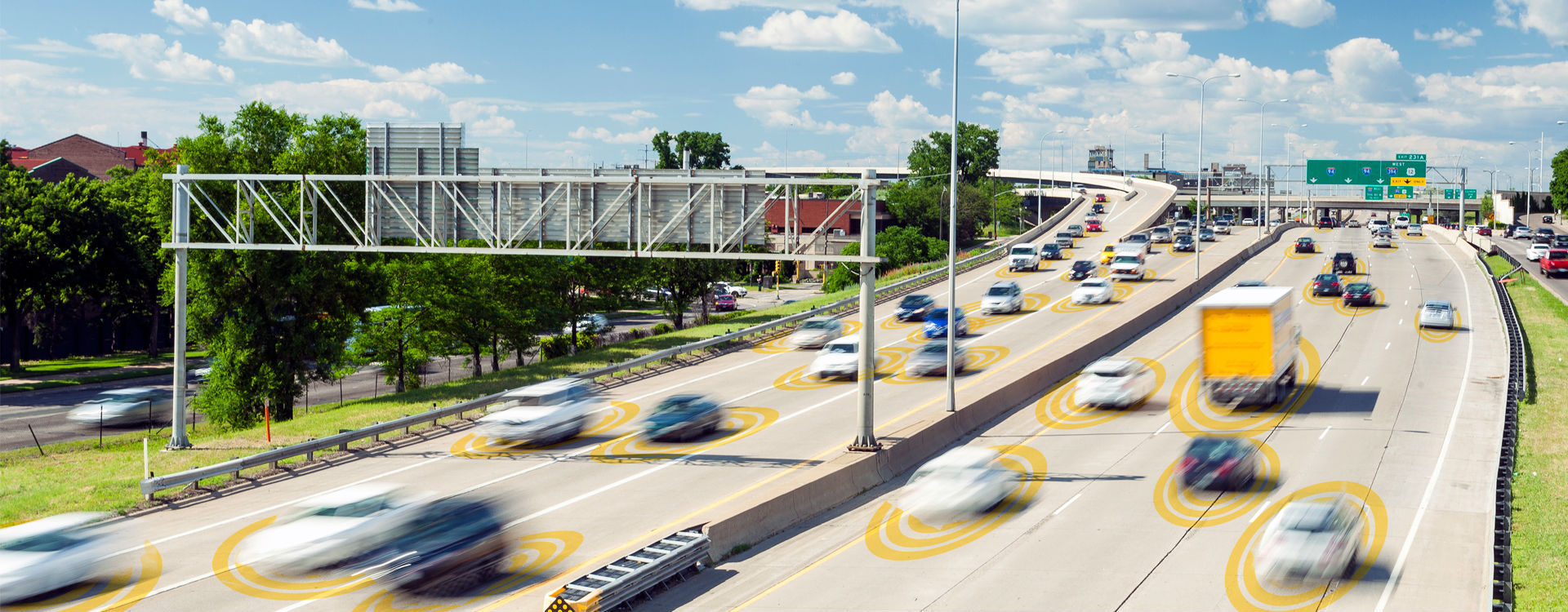 Connected vehicles will communicate wirelessly with one another for safety and navigational purposes, helping cars stay in lanes, recognize appropriate operating speeds and exit highways safely.