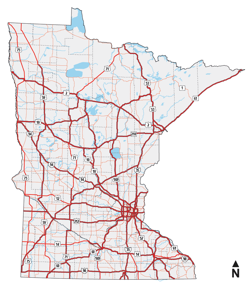 Find A Rest Area In Minnesota Safety Rest Areas Waysides - Mn on us map