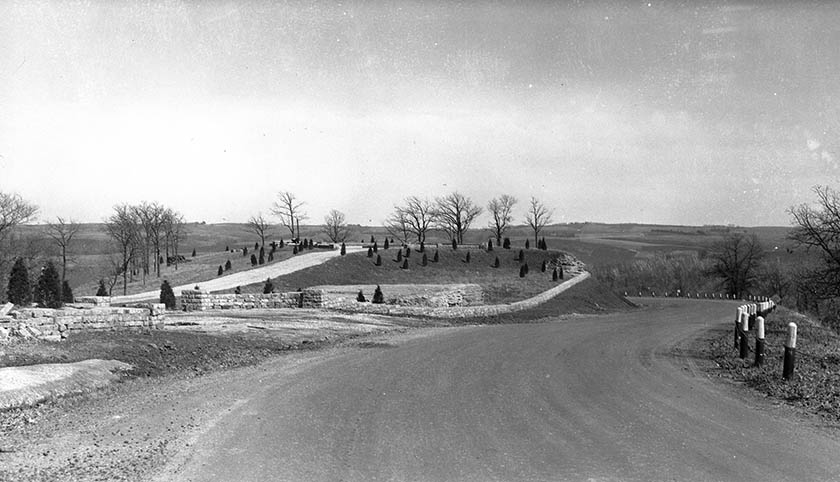 Historic photo of the overall site.