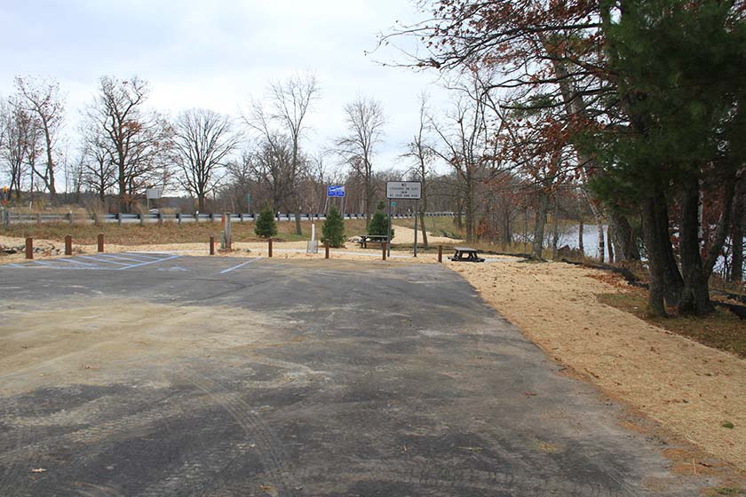 S view of parking lot post-rehabilitation.