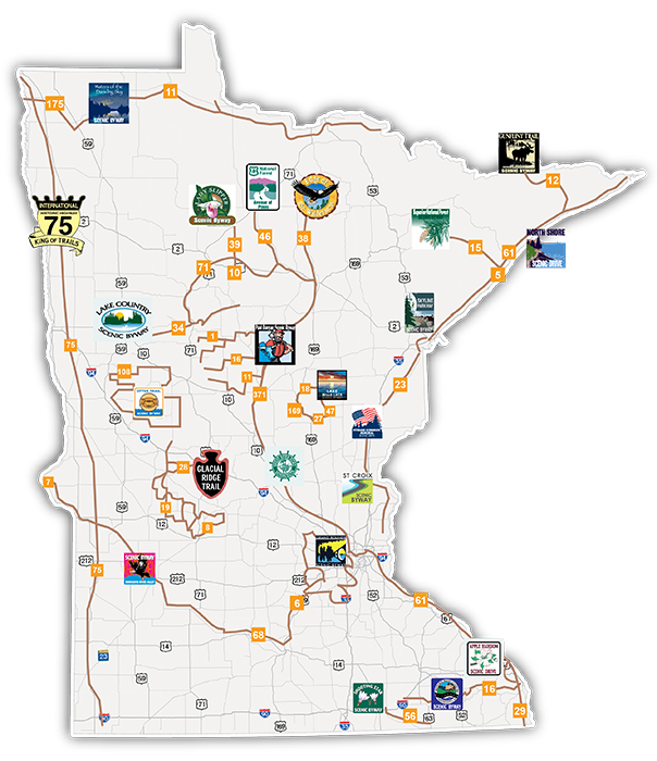 Scenic Byways interactive map